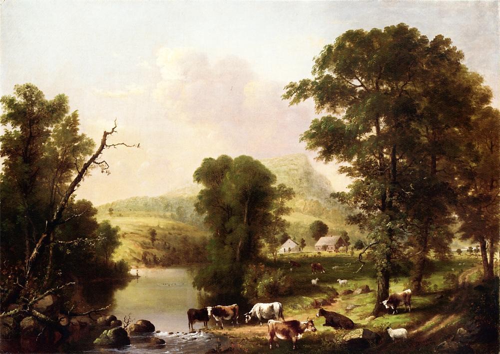 Summer Scene 1855 | George Henry Durrie | oil painting