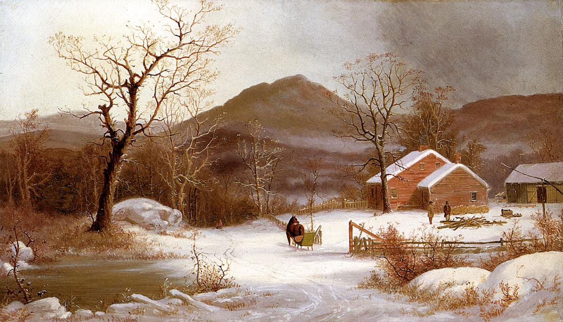 Winter Landscape | George Henry Durrie | oil painting