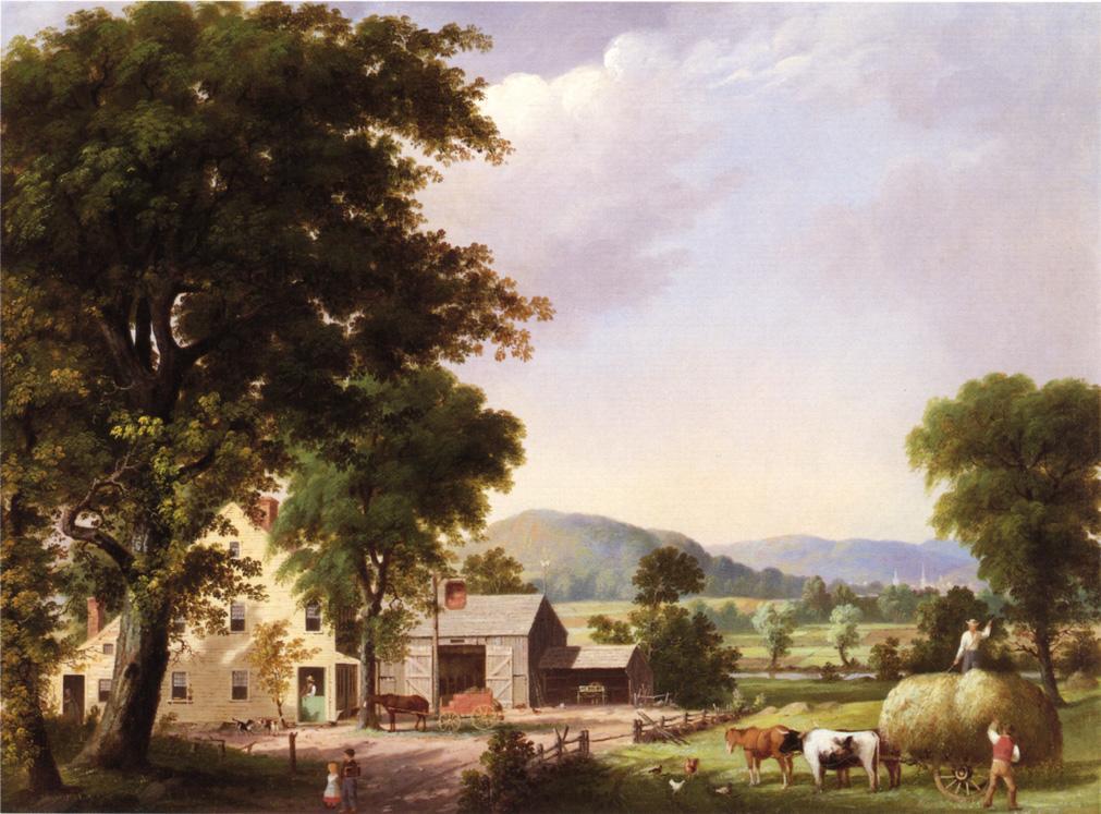 Summer Haying at Jones Inn 1854 | George Henry Durrie | oil painting