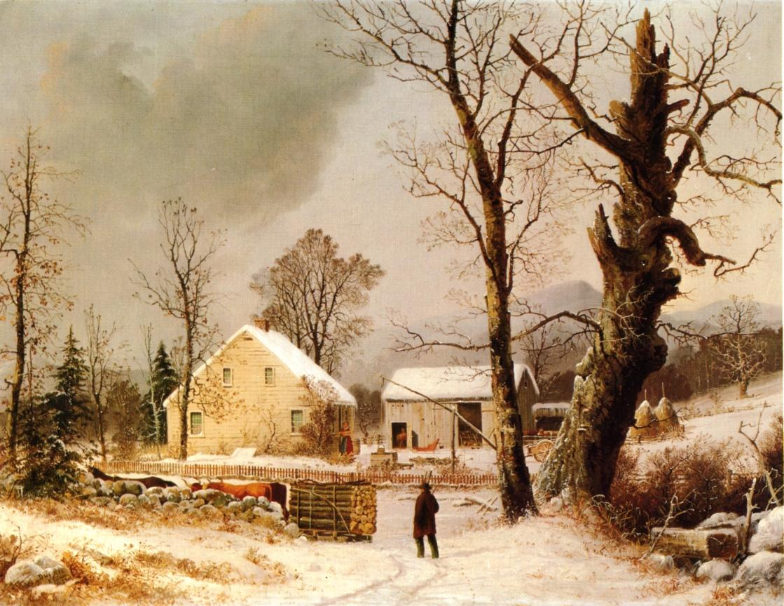 Winter Scene in New England 1859 | George Henry Durrie | oil painting