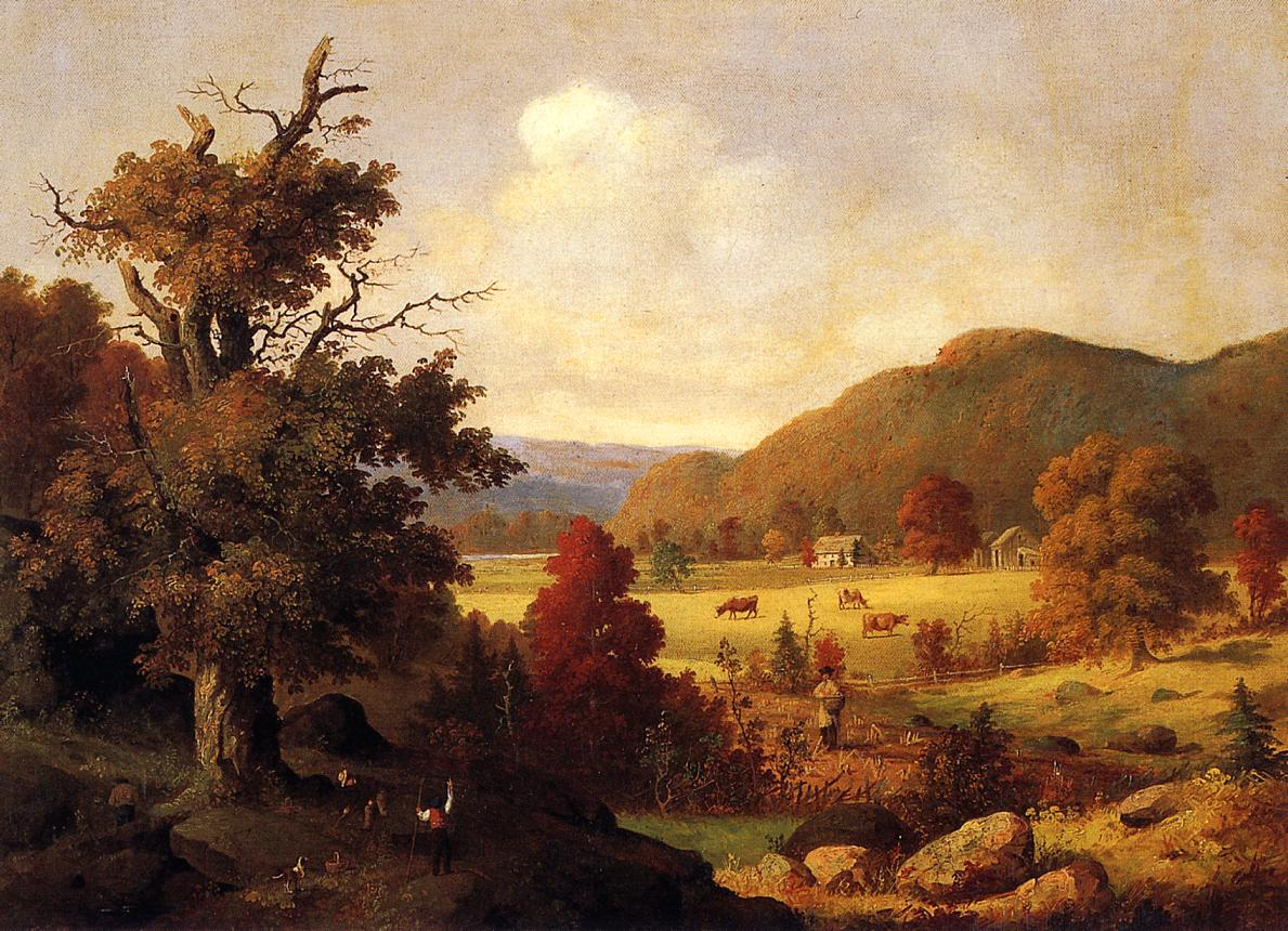 Woodland Glade in Autumn 1855 | George Henry Durrie | oil painting