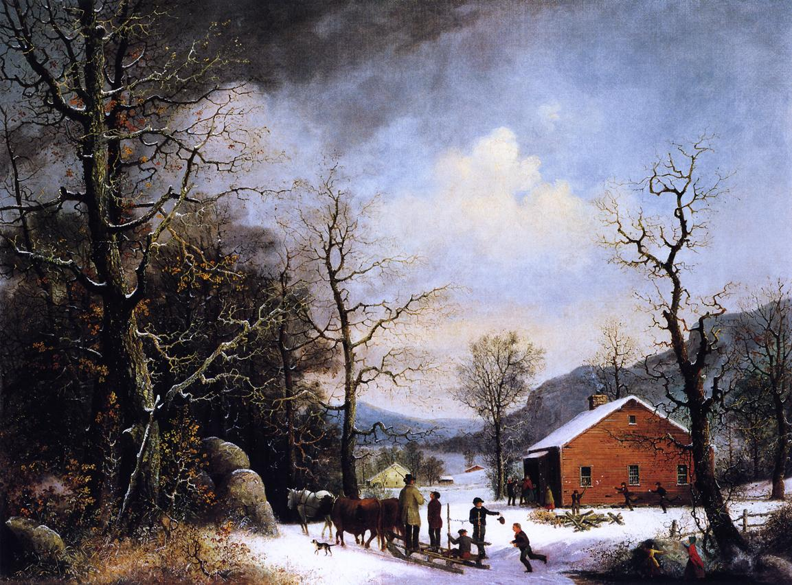 Winter Scene 1857 | George Henry Durrie | oil painting