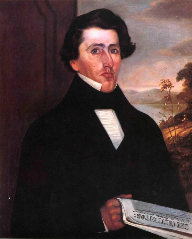 John Fisher Throckmorton Forman 1841   George Henry Durrie   oil painting