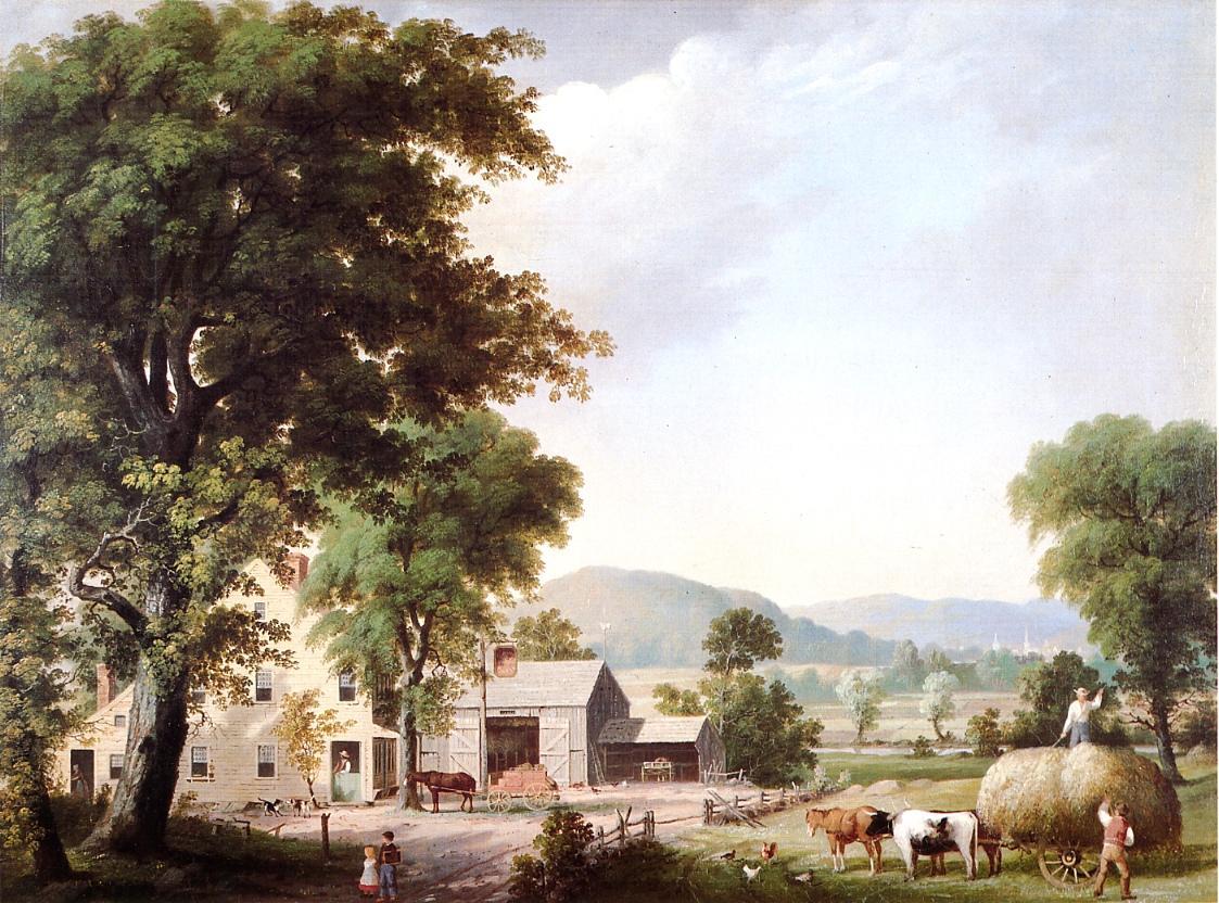 Haying at Jones Inn 1854 | George Henry Durrie | oil painting