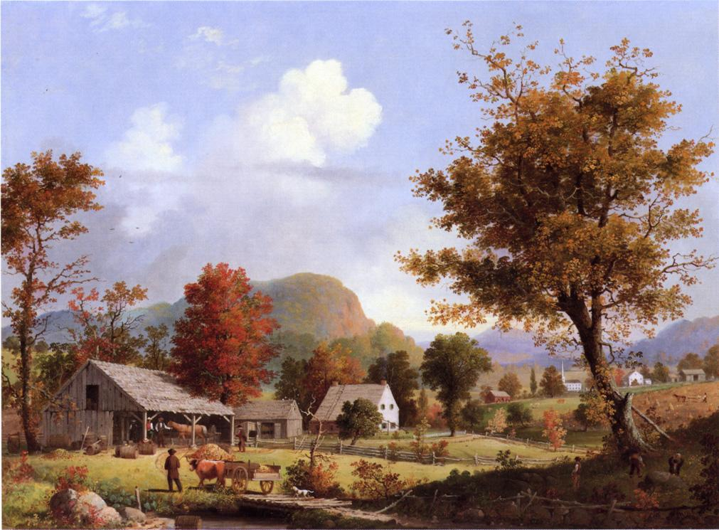 Autumn Cider Pressing 1855 | George Henry Durrie | oil painting