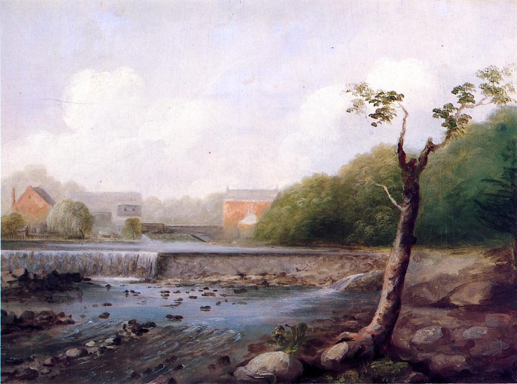 Kinney Town Dam Seymour Connecticut 1850 1853   George Henry Durrie   oil painting