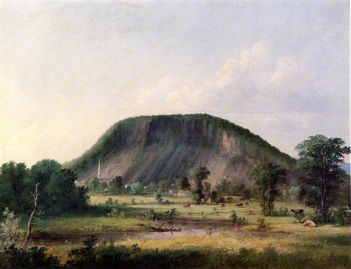 West Rock New Haven 1857 | George Henry Durrie | oil painting