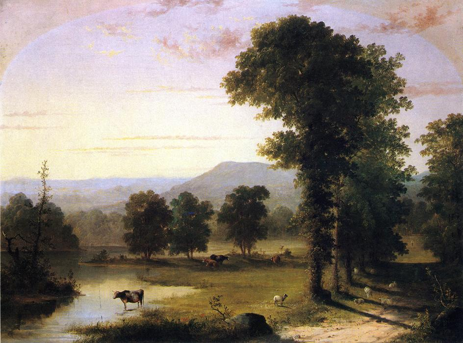 Summer Day on the River 1859 | George Henry Durrie | oil painting