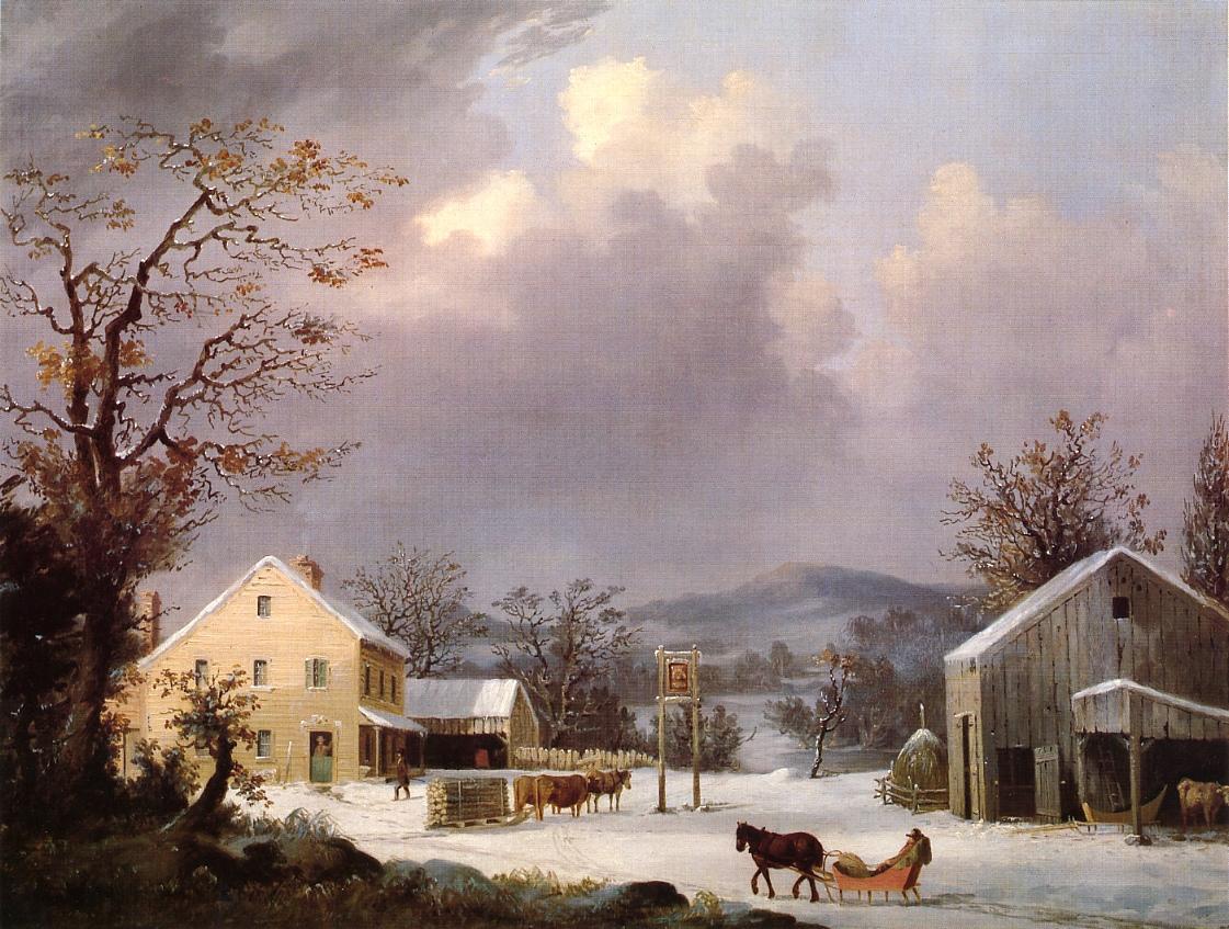 Jones Inn Winter 1853 | George Henry Durrie | oil painting