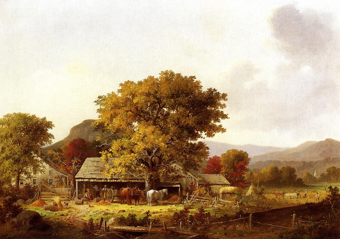 Cider Making in the Country 1973 | George Henry Durrie | oil painting