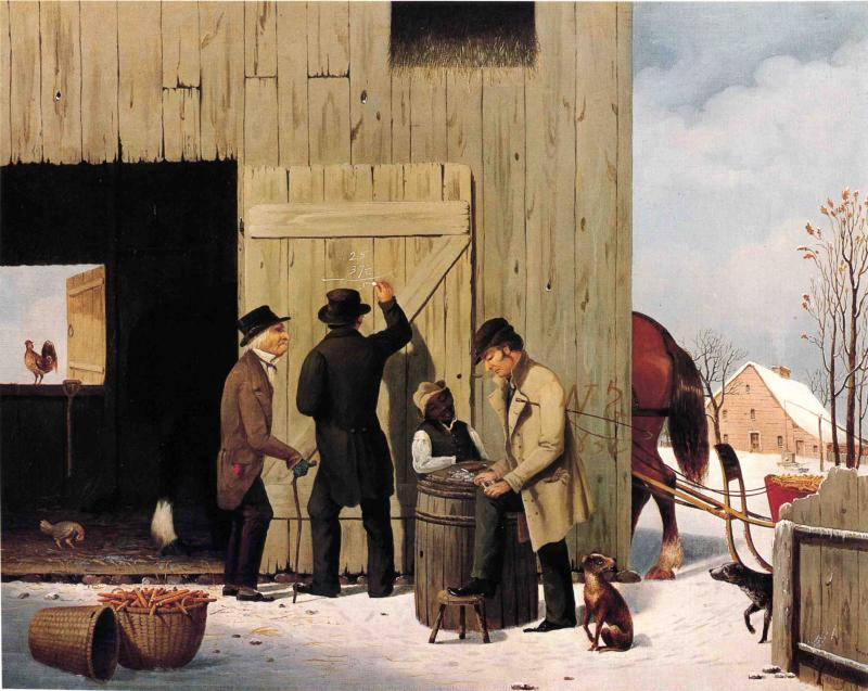 Settling a Bill 1851 | George Henry Durrie | oil painting