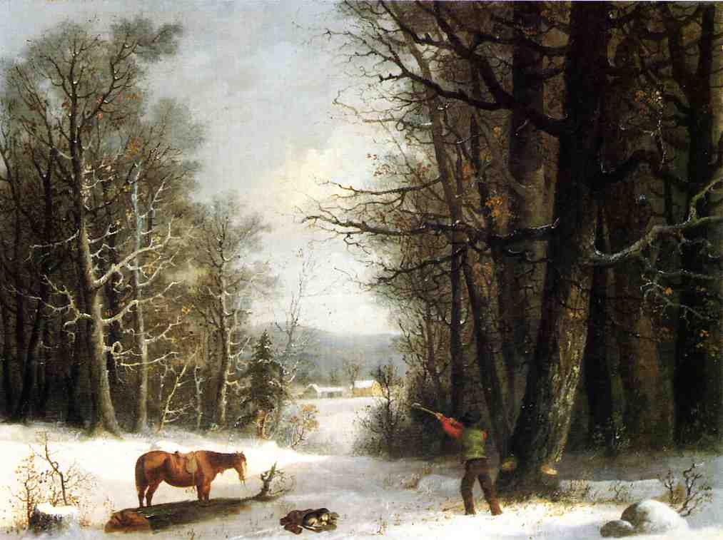 Woodsman in Winter 1858 | George Henry Durrie | oil painting