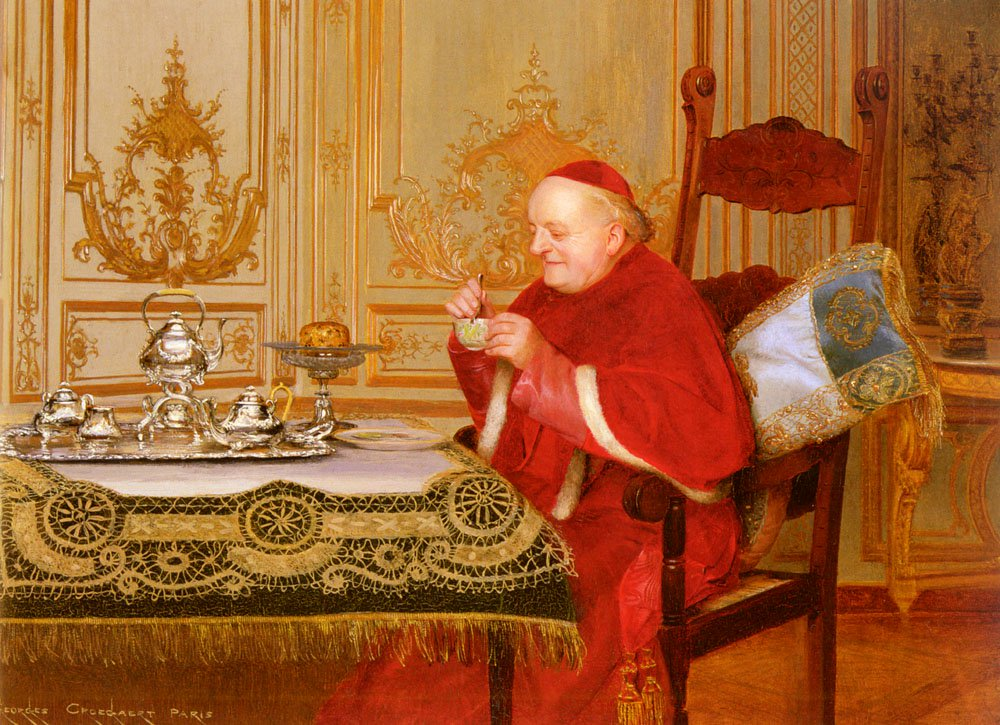 Teatime | Georges Croegaert | oil painting