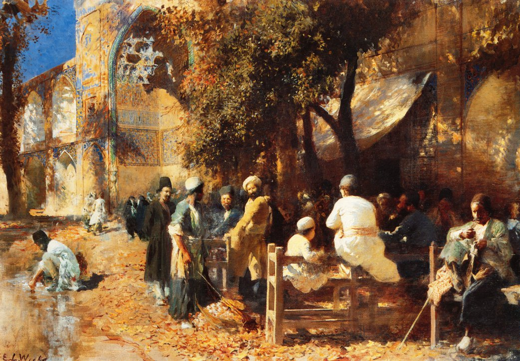 A Persian Cafe | Edwin Lord Weeks | oil painting