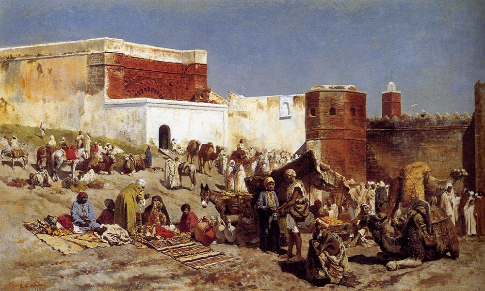 Moroccan Market 1880 | Edwin Lord Weeks | oil painting