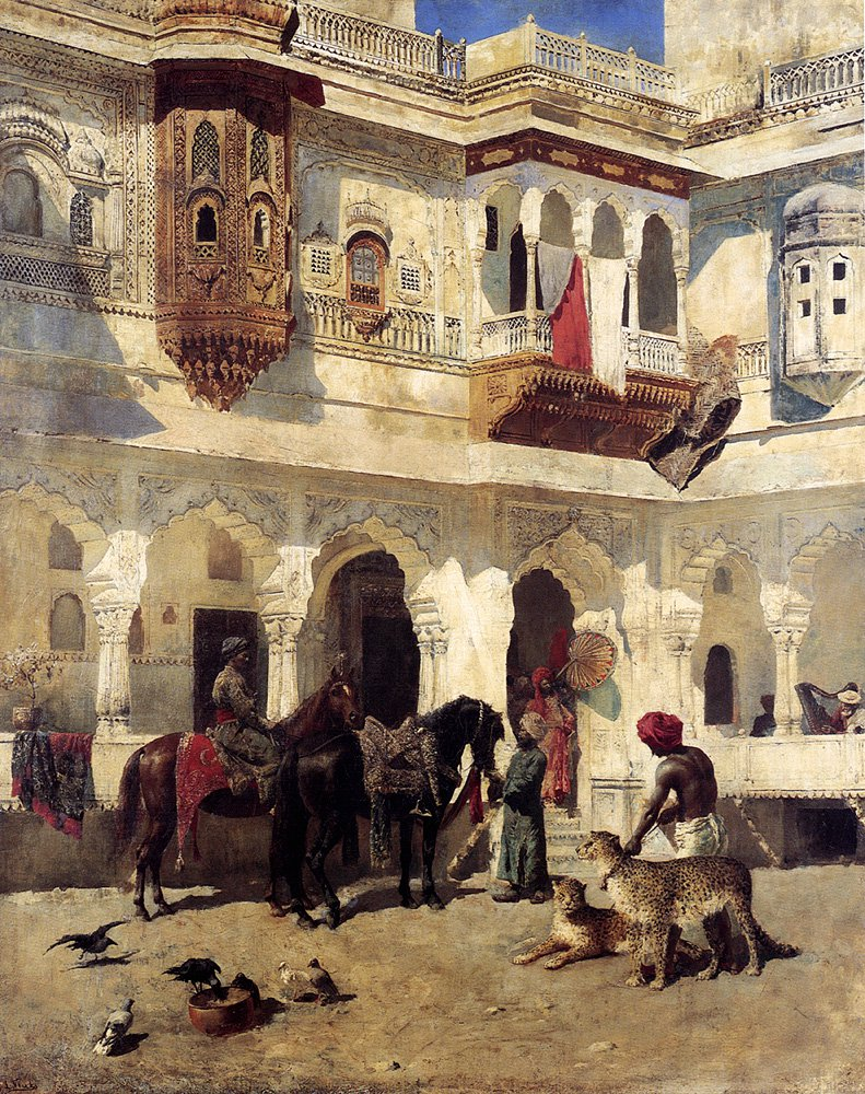 Rajah Starting On A Hunt | Edwin Lord Weeks | oil painting