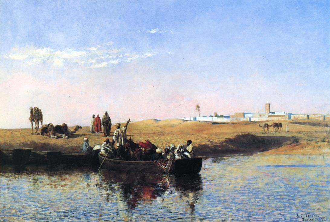 Scene at Sale Morocco 1879 | Edwin Lord Weeks | oil painting