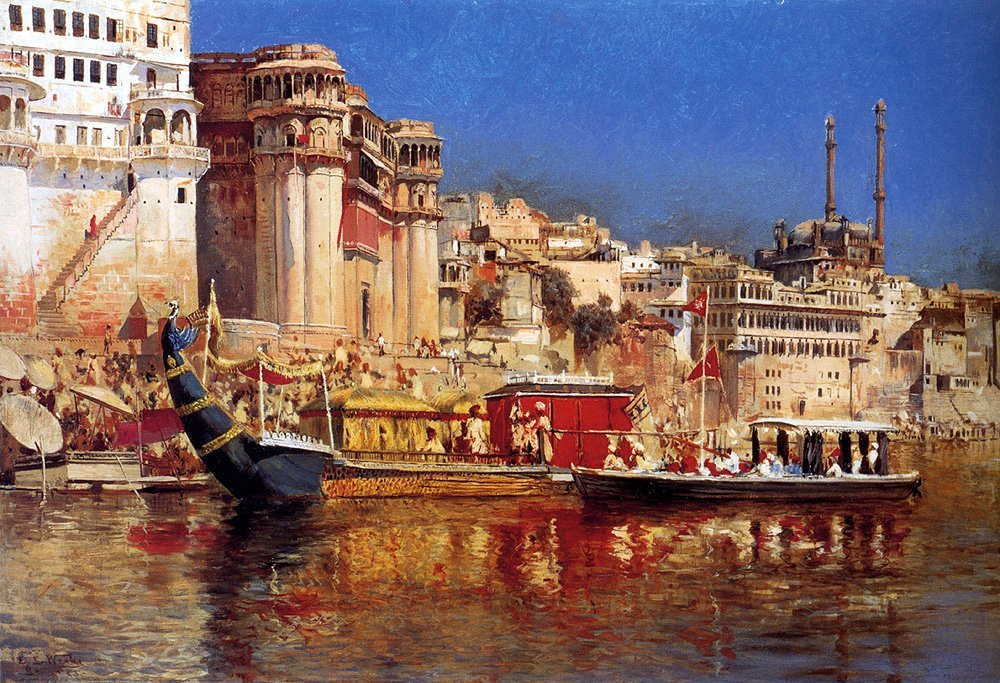 The Barge Of The Maharaja Of Benares c.1883 | Edwin Lord Weeks | oil painting