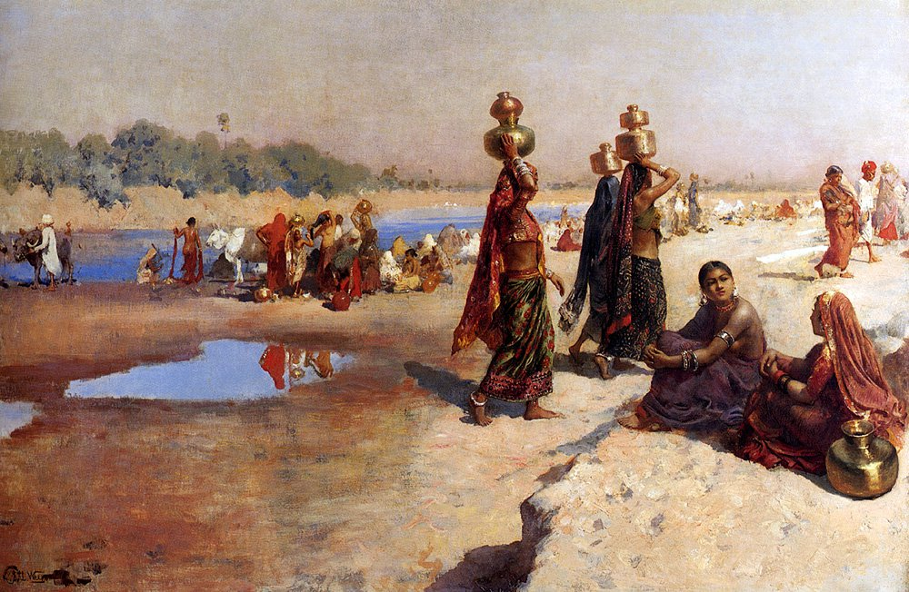 Water Carriers Of The Ganges | Edwin Lord Weeks | oil painting