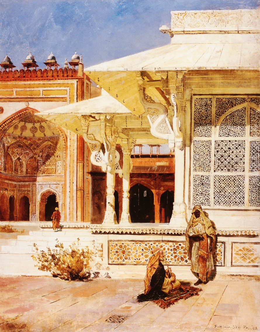 White Marble Tomb at Suittitor Skiri 1883 | Edwin Lord Weeks | oil painting