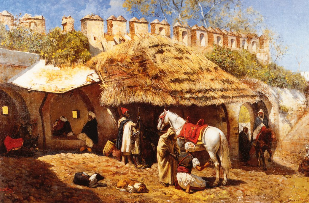 Blacksmith Shop at Tangiers 1876 | Edwin Lord Weeks | oil painting
