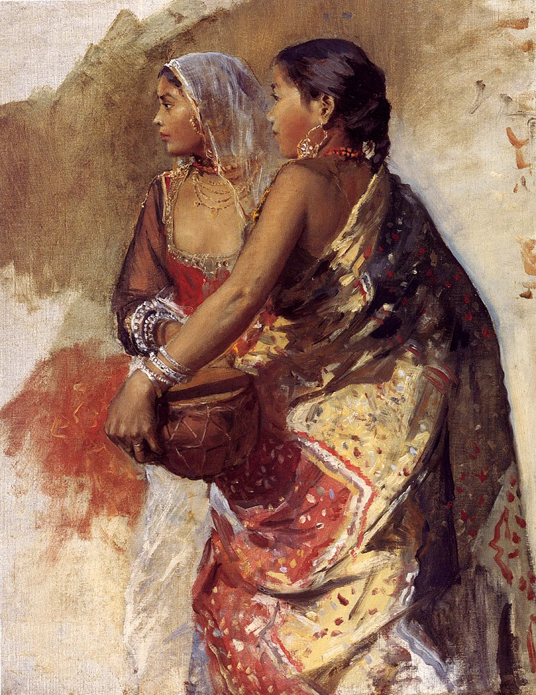 Sketch Two Nautch Girls | Edwin Lord Weeks | oil painting
