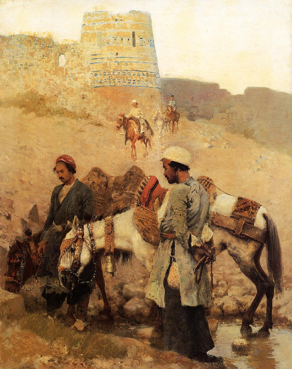 Traveling in Persia c.1895 | Edwin Lord Weeks | oil painting
