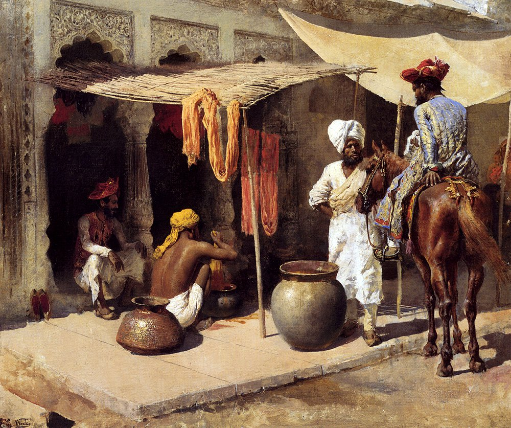 Outside An Indian Dye House c.1885 | Edwin Lord Weeks | oil painting