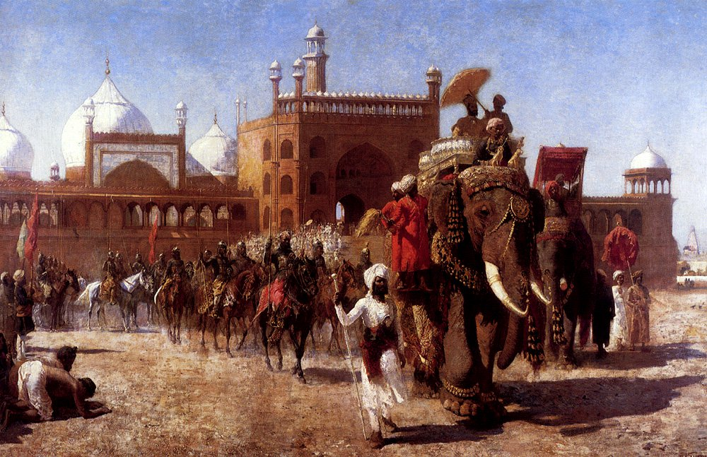 The Return Of The Imperial Court From The Great Nosque At Delhi In The Reign Of Shah Jehan 1886 | Edwin Lord Weeks | oil painting