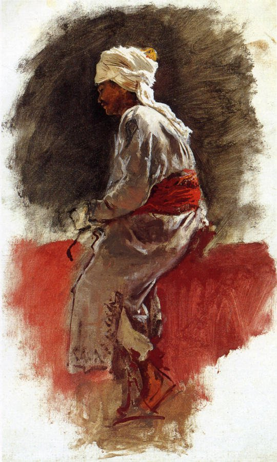 The Rider | Edwin Lord Weeks | oil painting