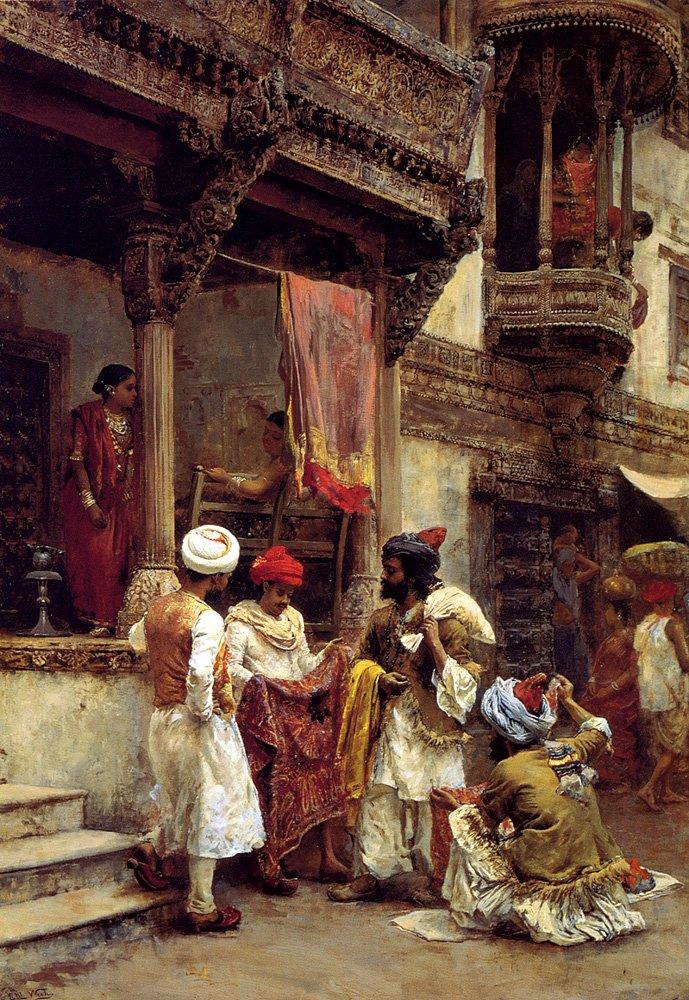The Silk Merchants | Edwin Lord Weeks | oil painting