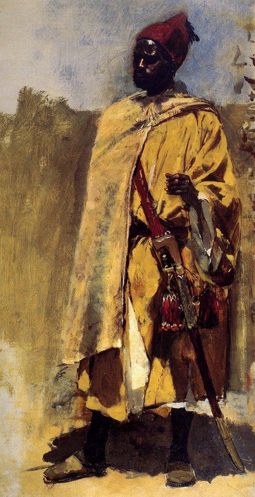 Moorish Guard | Edwin Lord Weeks | oil painting