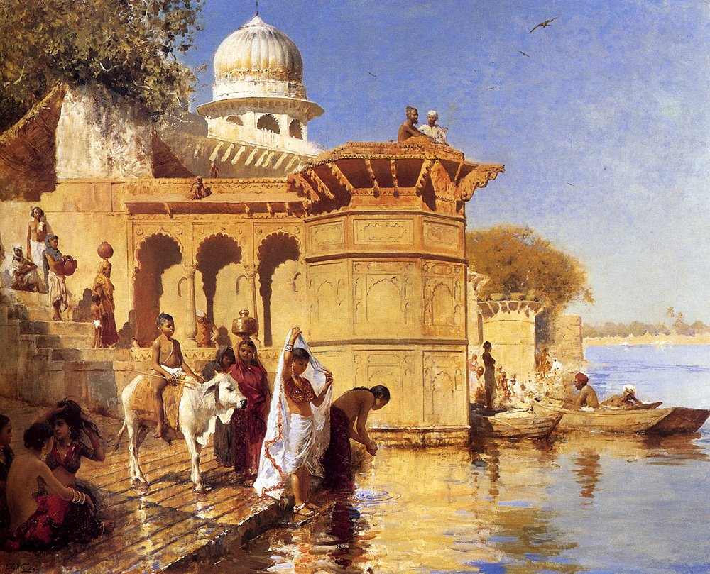 Along the Ghats Mathura | Edwin Lord Weeks | oil painting