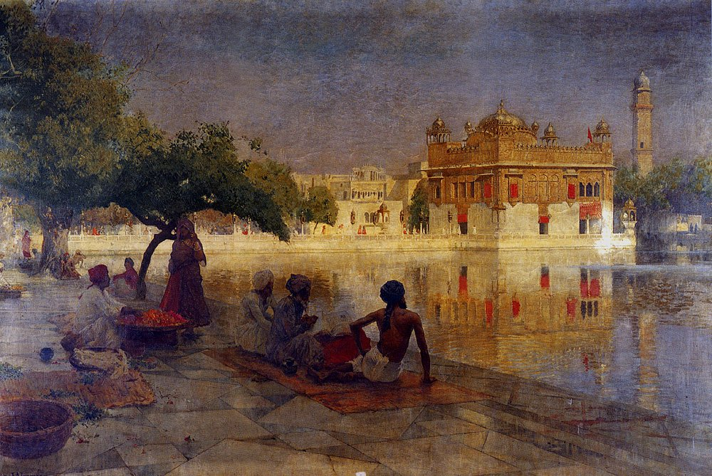 The Golden Temple Amritsar 1890 | Edwin Lord Weeks | oil painting