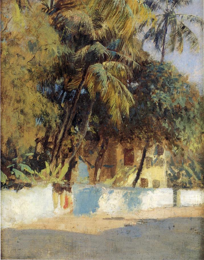 Street Scene Bombay c.1885 | Edwin Lord Weeks | oil painting