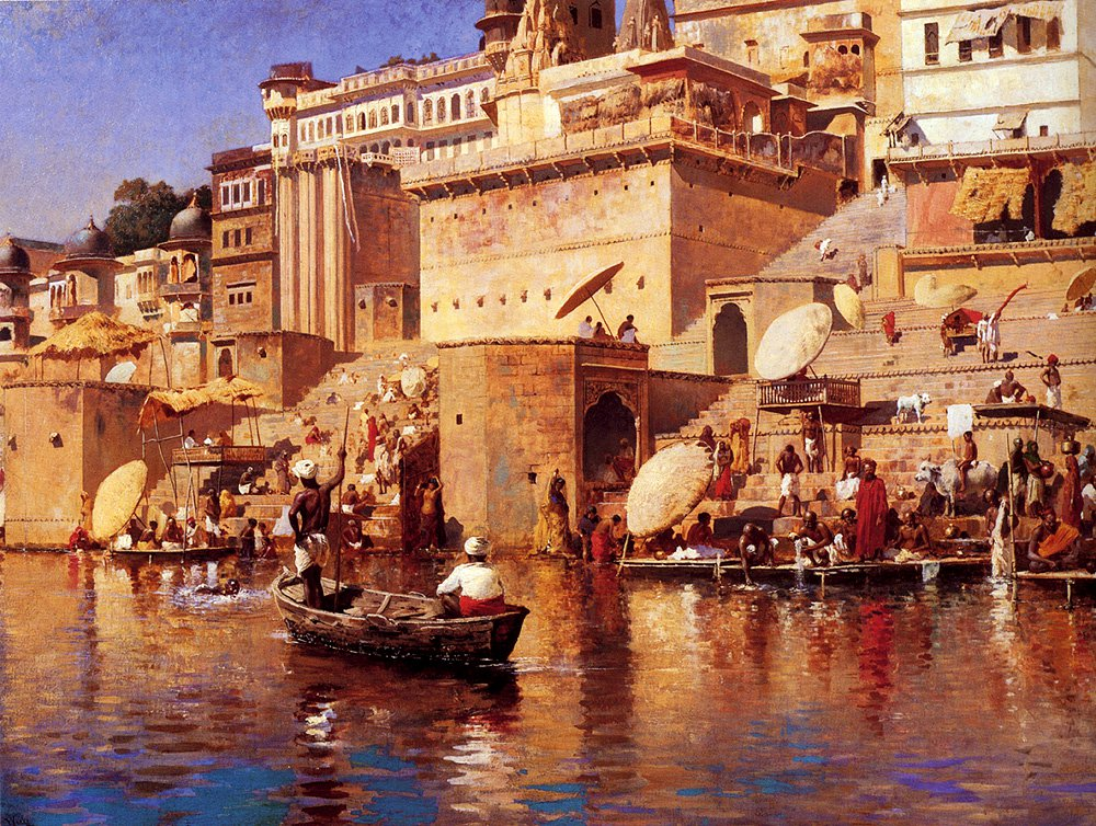 On The River Benares c.1883 | Edwin Lord Weeks | oil painting