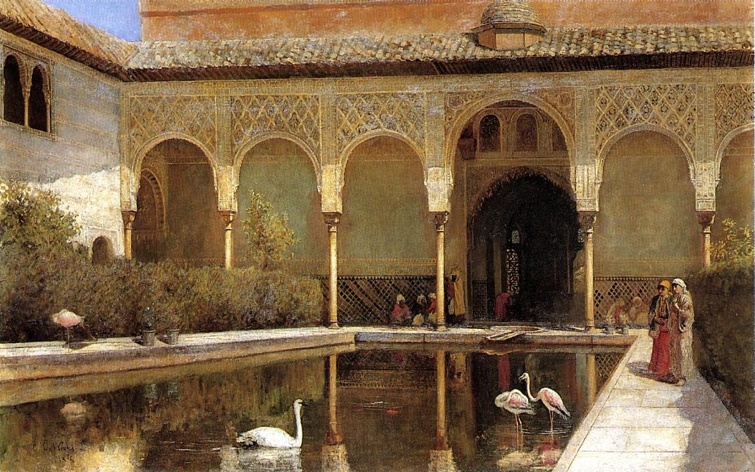 A Court in The Alhambra in the Time of the Moors 1876 | Edwin Lord Weeks | oil painting