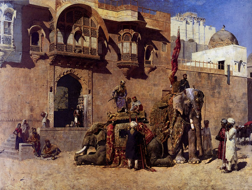 A Rajah Of Jodhpur c.1888 | Edwin Lord Weeks | oil painting