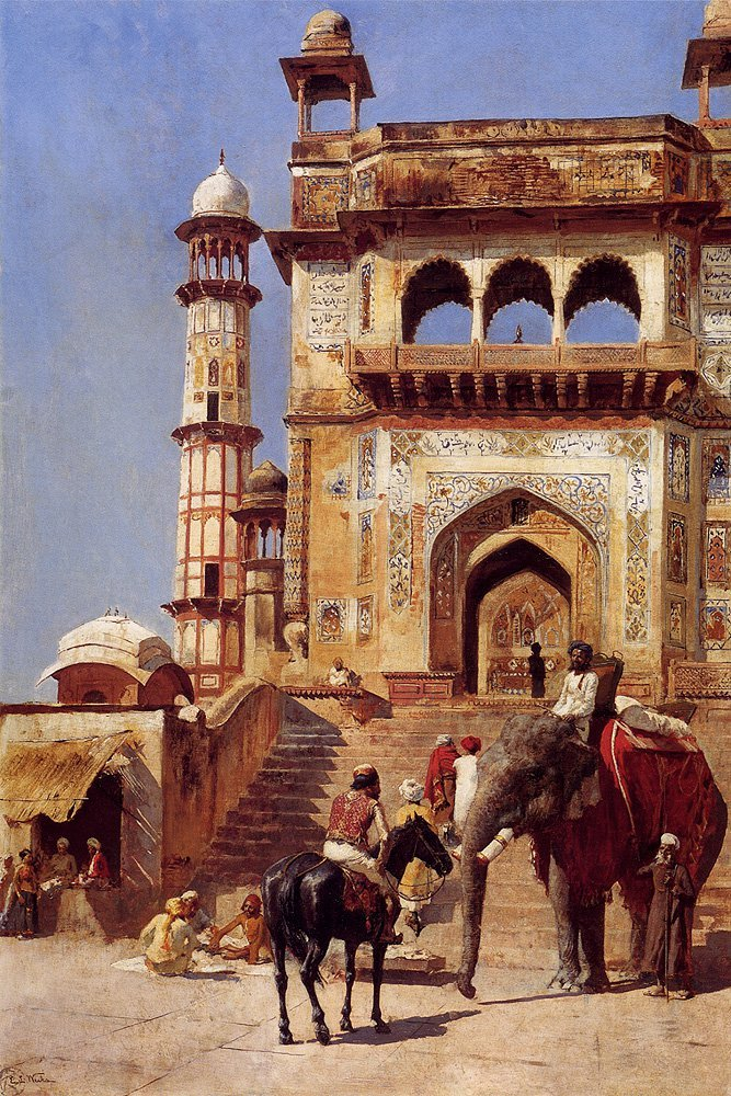 Before A Mosque 1883 | Edwin Lord Weeks | oil painting