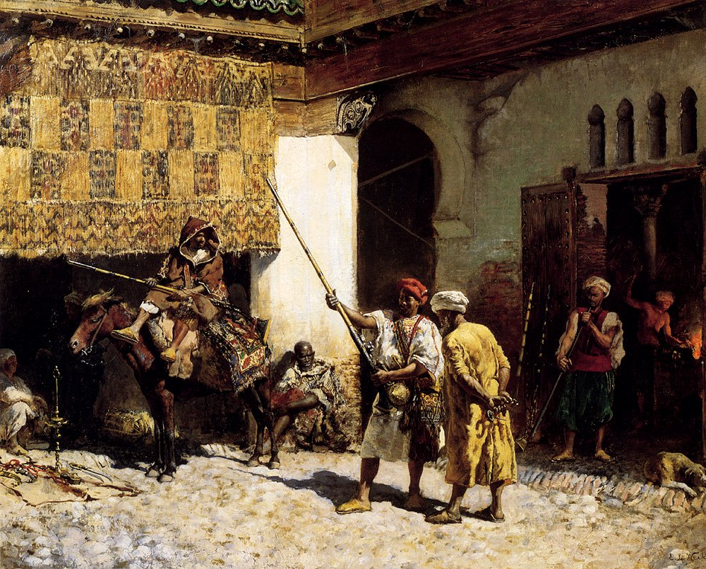 The Arab Gunsmith c.1878 | Edwin Lord Weeks | oil painting