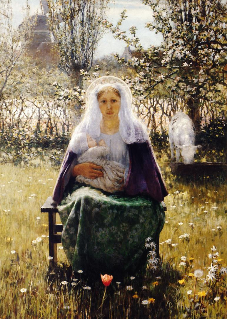 Blessed Mother 1892 | George Hitchcock | oil painting