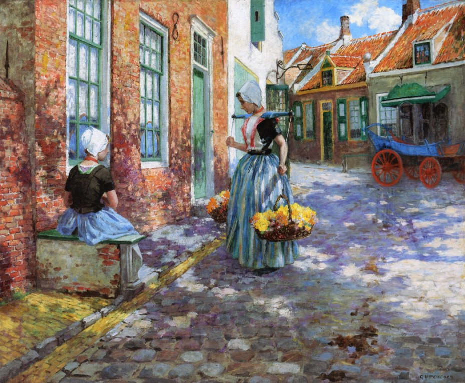 Dutch Flower Girls Date unknown | George Hitchcock | oil painting
