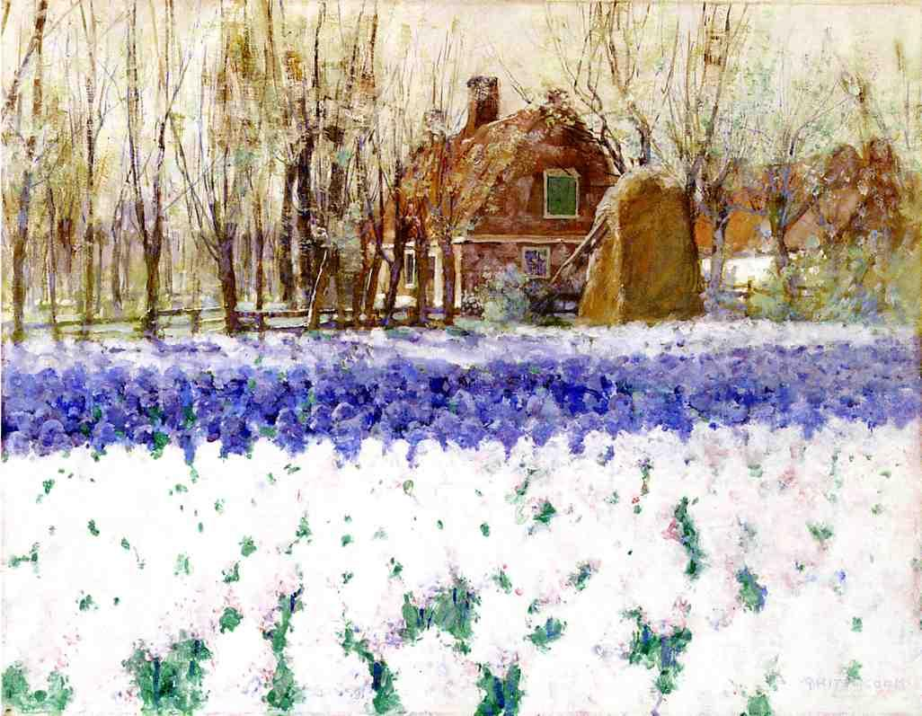Cottage with Hyacinths Date unknown | George Hitchcock | oil painting