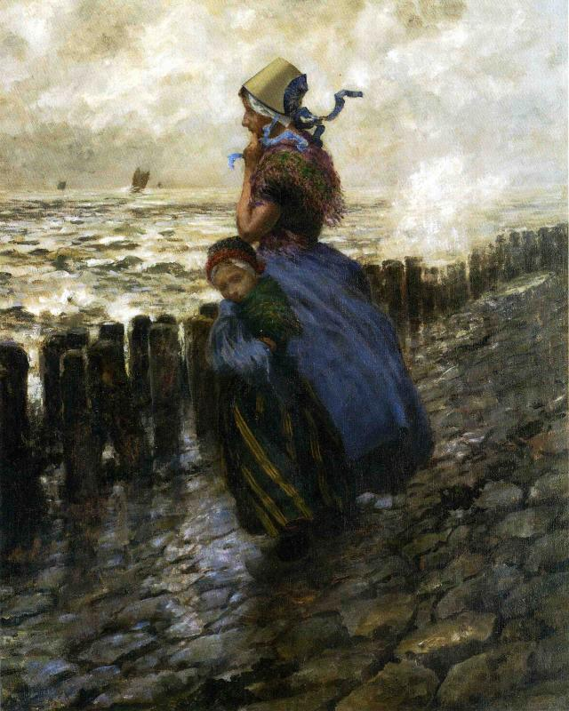 Looking Out to Sea Date unknown   George Hitchcock   oil painting