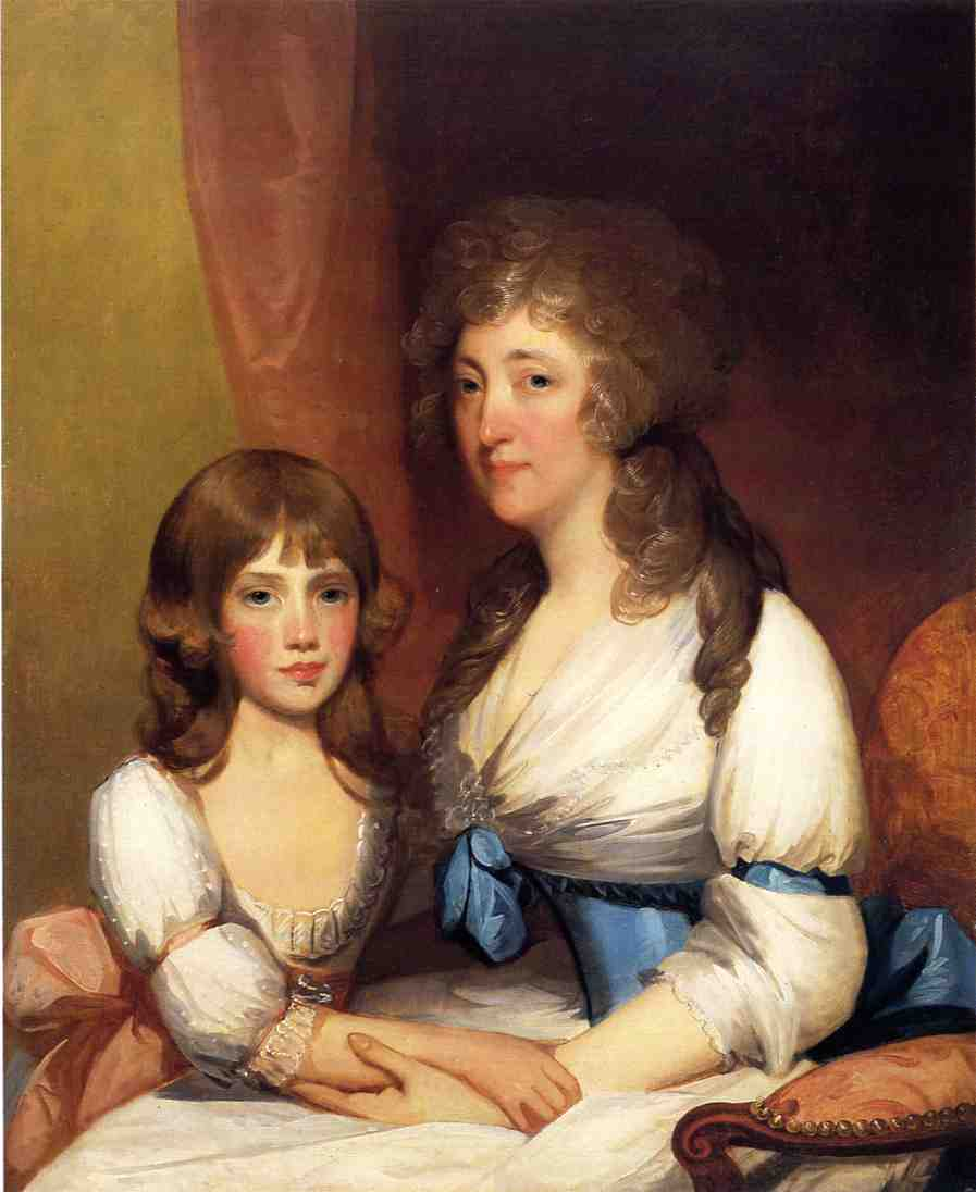 Mrs Samuel Dick and Daughter Charlotte Anna | Gilbert Stuart | oil painting