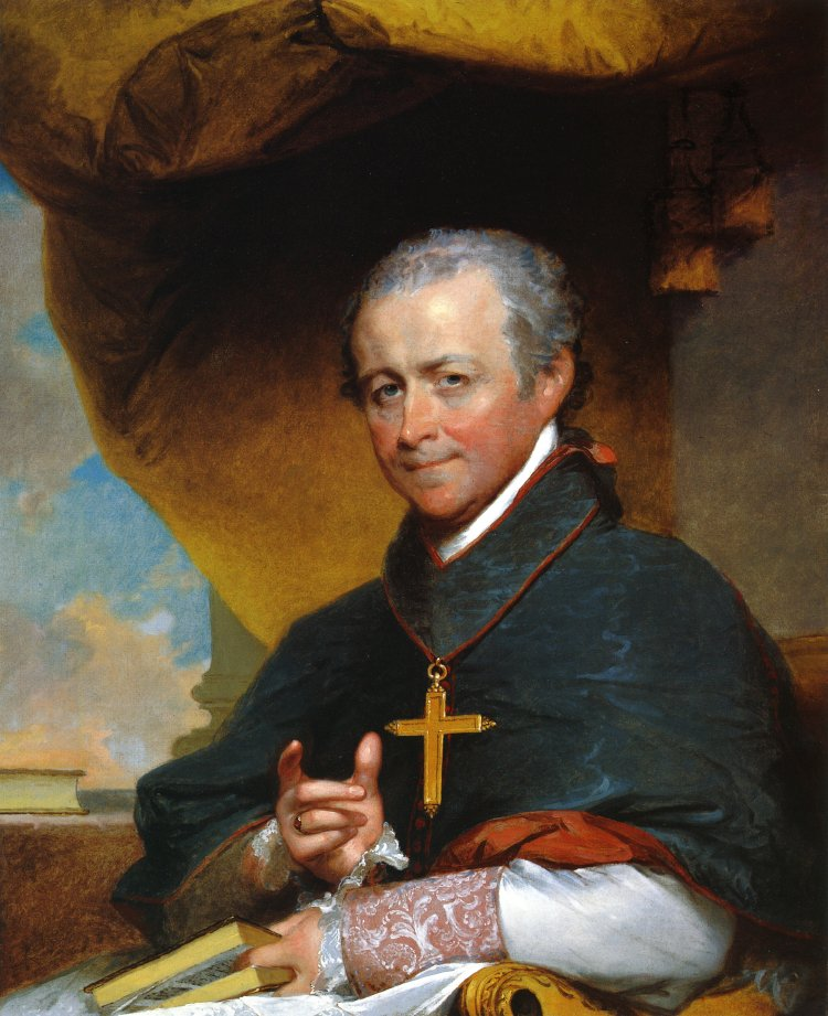 Bishop Jean Louis Anne Magdelaine Lefebvre de Cheverus 1823 | Gilbert Stuart | oil painting