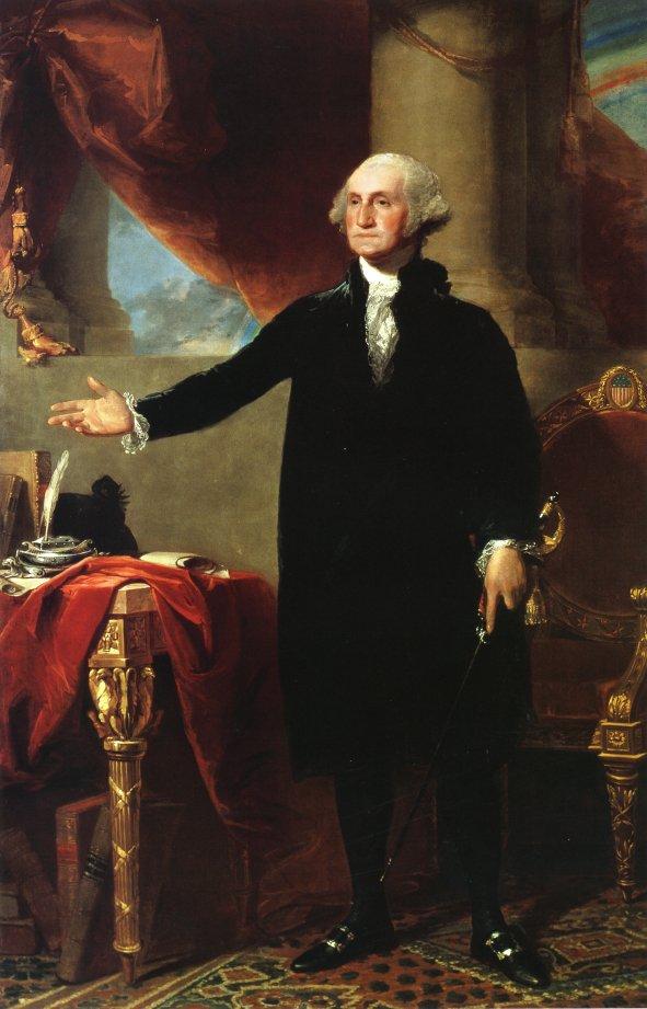 George Washington The Landsdowne Portrait 1796 | Gilbert Stuart | oil painting
