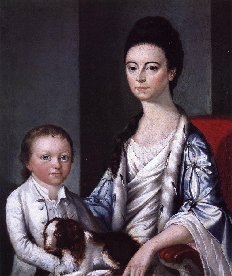 Christian Stelle Banister and Her Son John | Gilbert Stuart | oil painting
