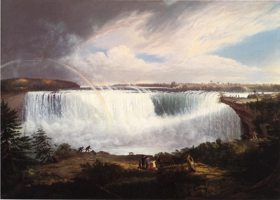 The Great Horseshoe Fall Niagara 1820 | Gilbert Stuart | oil painting
