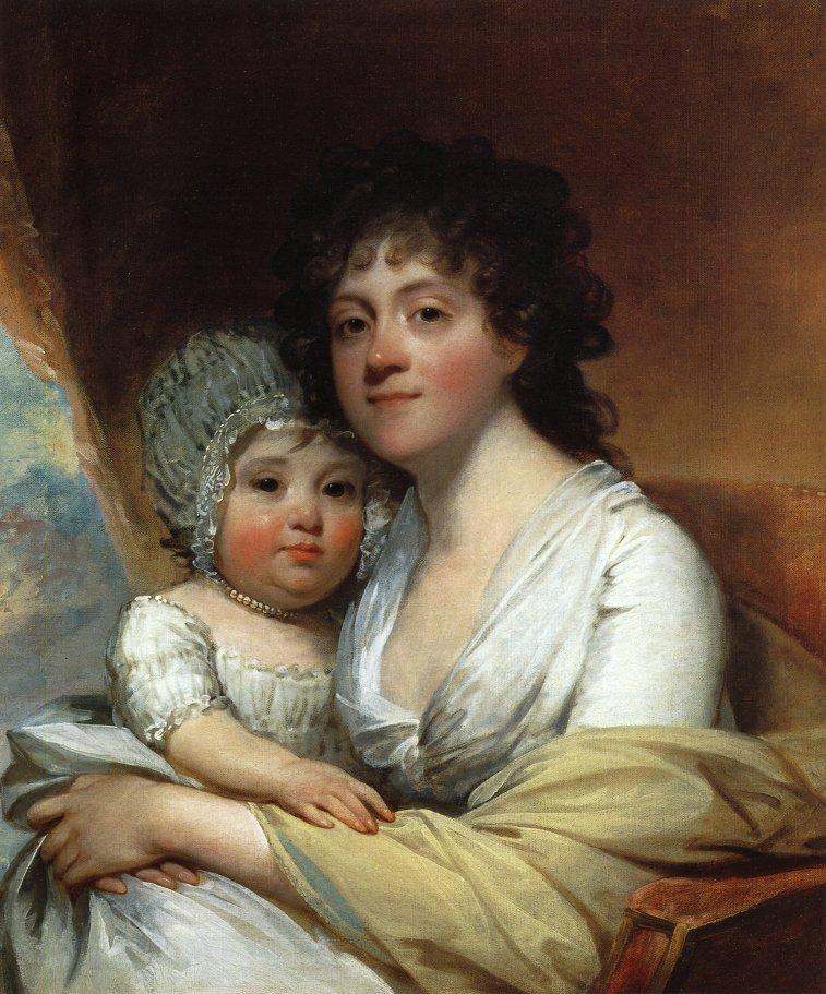 Elizabeth Corbin Griffin Gatliff and Her Daughter Elizabeth 1798 | Gilbert Stuart | oil painting
